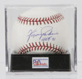 Autographs:Baseballs, Fergie Jenkins Single Signed Baseball, PSA Mint 9. HOF hurlerFergie Jenkins has applied a wonderful signature to the sweet...