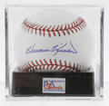 Autographs:Baseballs, Harmon Killebrew Single Signed Baseball, PSA Mint+ 9.5. HOFer andmember of the 500 home run club has signed this OML baseb...