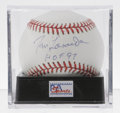 Autographs:Baseballs, Tommy Lasorda Single Signed Baseball, PSA Mint 9. As the highlysuccessful Dodgers manager for 21 seasons Tommy Lasorda led...