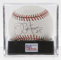 Autographs:Baseballs, Joe Pepitone Single Signed Baseball, PSA Mint 9. The three-timeAll-Star and Gold Glove first basemen gives us this excelle...