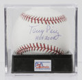 Autographs:Baseballs, Tony Perez Single Signed Baseball, PSA Mint+ 9.5. Tony Perez, whoseyears with the Big Red Machine in Cincinnati earned him...