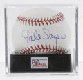 Autographs:Baseballs, Gale Sayers Single Signed Baseball, PSA Mint+ 9.5. Unique sweetspot signature from football HOFer Gale Sayers appears on t...