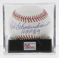 Autographs:Baseballs, Red Schoendienst Single Signed Baseball, PSA Mint+ 9.5. Ten-timeAll-Star Red Schoendienst has applied this flawless sweet ...