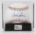 Autographs:Baseballs, Tom Seaver Single Signed Baseball, PSA Gem Mint 10. The greathurler Seaver has applied an excellent sweet spot signature t...