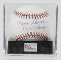 Autographs:Baseballs, Moose Skowron Single Signed Baseball, PSA Mint+ 9.5. In his nineyears with the New York Yankees, Moose Skowron saw much su...