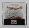 Autographs:Baseballs, 1989 New York Mets Team-signed Baseball, PSA Mint 9. Thirty membersfrom the '89 Mets have signed this ONL (White) ball, in...