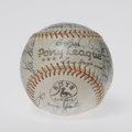 Autographs:Baseballs, Old Timers and HOFers Multi-Signed Baseball. Twenty-threesignatures averaging 7/10 grace this official Little Leaguebaseb...