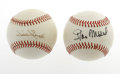 Autographs:Baseballs, Stan Musial and Willie Stargell Single Signed Baseballs. Group lotwith two HOFers. Stan Musial ONL (Feeney) ball with str... (Total:2 Items)