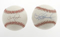 Autographs:Baseballs, Sammy Sosa and Cal Ripken, Jr. Single Signed Baseballs. These twoOML baseballs are both clean and white, each sporting a s...(Total: 2 Items)