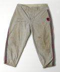 """Autographs:Others, Hank Aaron Signed Pants. Vintage pair of flannel pants (no known attribution) are signed """"Best Wishes, Hank Aaron"""" in perfe..."""