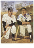 Autographs:Others, Mickey Mantle Signed Beckett Magazine. Featured on the cover ofthis June 1991 Beckett price guide are the pinstriped fours...