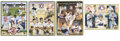 Autographs:Others, Upper Deck Heroes of Baseball Commemorative Sheets Signed Lot of26, Unsigned Lot of 35 . Upper Deck regularly releases num...