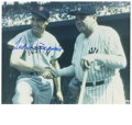 """Autographs:Photos, Ted Williams Signed Photograph. This marvelous 8x10"""" photographdepicts two of the most revered players in the history base..."""