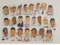 Autographs:Post Cards, Signed Perez-Steele Postcards Lot of 82. Huge lot of HOF signaturesis offered here, each on a Perez-Steele postcard. All ...