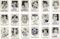 Autographs:Sports Cards, 1979 Diamond Greats Signed Baseball Cards Lot of 294, Unsigned Lotof 40. From this 1979 black and white issue we offer 294...