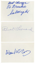 Autographs:Index Cards, Baseball Cut Signatures Lot of 162. This expansive collection of signatures from baseball greats is the result of a diligen...