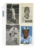 Autographs:Post Cards, Baseball Stars Signed Post Cards & Photos Lot of 173, UnsignedLot of 63. The majority of these post cards and post card-si...