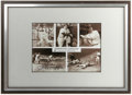 Autographs:Others, Joe DiMaggio Signed Print. Beautiful sepia-toned print includesfive shots of the Yankee Clipper in all his pinstriped glor...
