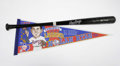 Autographs:Others, Nolan Ryan Signed Bat and Pennant. The Ryan Express racked up morestrikeouts than any other player in baseball history, ea...