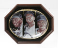 "Baseball Collectibles:Others, Mays/Mantle/Snider Commemorative Plate. Sports Impressions releasedthis plate entitled ""The Golden Years"" in a limited run..."