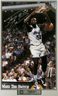 Basketball Collectibles:Others, Shaquille O'Neal Signed Poster. Full color poster of Shaq throwingthe ball down during his days with the Orlando Magic. O...