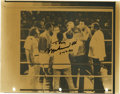 Boxing Collectibles:Autographs, 1980 Muhammad Ali Signed Wire Photograph Copy. The heavyweightchampionship bout of 1980 between Ali and Larry Holmes is ca...