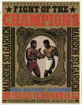 "Boxing Collectibles:Memorabilia, 1971 Ali-Frazier I ""Fight of the Champions"" Closed Circuit Program. From the 1971 title match dubbed ""The Fight of the Cent..."