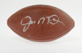 Football Collectibles:Balls, Joe Montana Signed Football. Offered here is an excellent bold silver sharpie signature from the HOF quarterback on a Wilso...