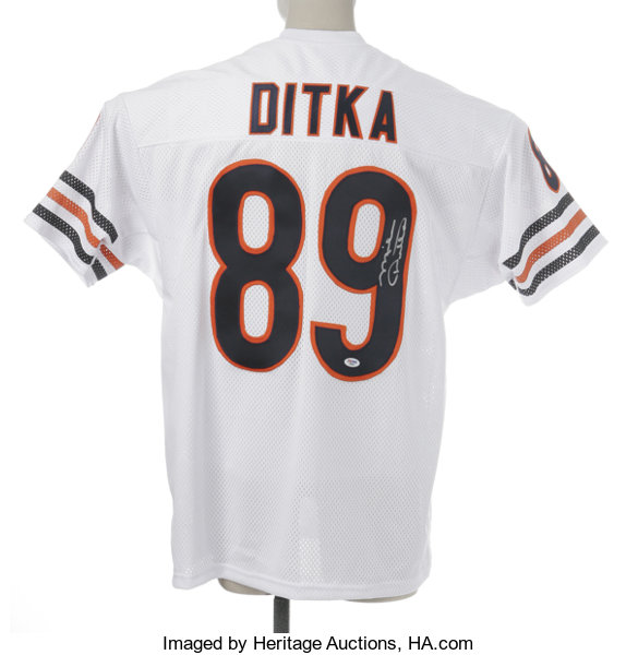 b3628b95309 Mike Ditka Signed Jersey. Fine replica of his Chicago Bears