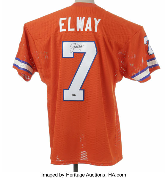 buy popular 0dc2e 7cbf3 John Elway Signed Jersey. Fine replica of his