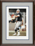 Football Collectibles:Others, Signed Troy Aikman Lithograph. Fine lithograph featuring the Cowboys great has been signed by Aikman himself and is limited...