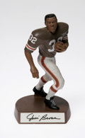 Autographs:Others, Jim Brown Signed Salvino Statue. Mint limited edition hand paintedFootball Legends figurine of the HOF running back measur...