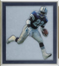 Football Collectibles:Others, Emmitt Smith Signed Artwork Lot of 2. Smith, NFL's all-time rushing yards leader, helped the Dallas Cowboys to three Super ...