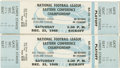 Football Collectibles:Tickets, 1968 NFL Eastern Conference Championship Ticket Stubs Lot of 2. Two quality tickets from 1968's NFL Eastern Conference Cham...