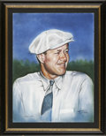 Golf Collectibles:Autographs, Byron Nelson Signed Art. Glorious image of Byron Nelson, the golflegend who had the unbelievable streak of 113 consecutive...