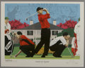 Golf Collectibles:Art, Jack Nicklaus/Tiger Woods Lithographs Lot of 2. Rick Rush, esteemedsports artist, has created the art from which these two...