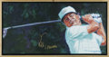 Golf Collectibles:Autographs, Tom Kite & Lee Trevino Signed Paintings. Acclaimed sportsartist Robert Hurst has created these paintings of two of golf's...