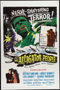 """Movie Posters:Horror, The Alligator People (20th Century Fox, 1959). One Sheet (27"""" X 41""""). Lon Chaney Jr., Beverly Garland and Richard Crane star..."""