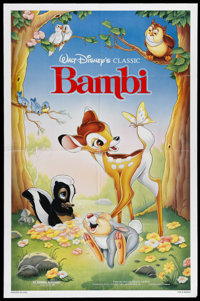 """Bambi (Buena Vista, R-1988). One Sheet (27"""" X 41""""). Disney's classic tale of the orphaned fawn who has to lear..."""