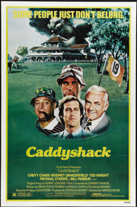 """Caddyshack (Orion, 1980). One Sheet (27"""" X 41""""). Chevy Chase, Rodney Dangerfield, Ted Knight and Bill Murray s..."""