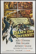 "Movie Posters:Adventure, Damn the Defiant! (Columbia, 1962). One Sheet (27"" X 41""). Duringthe Napoleonic Wars, H.M.S. Defiant is commanded by Captai..."