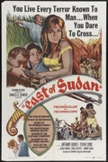 "Movie Posters:Adventure, East of Sudan (Columbia, 1964). One Sheet (27"" X 41""). AnthonyQuayle, Sylvia Sym and Jenny Agutter star in this adventure a..."