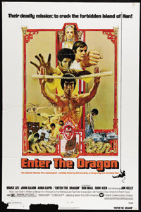 "Enter the Dragon (Warner Brothers, 1973). One Sheet (27"" X 41""). ""My style, you can call the art of fight..."