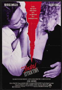 "Fatal Attraction (Paramount, 1987). One Sheet (27"" X 41""). This chilling film about a married man whose one ni..."