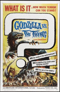"Movie Posters:Action, Godzilla vs. the Thing (American International, 1964). One Sheet(27"" X 41""). When AIP released this film in America, the ti..."