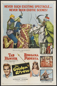 """The Golden Arrow (MGM, 1963). One Sheet (27"""" X 41""""). Hunky Tab Hunter stars in this tale of an Egyptian thief..."""
