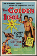 """Movie Posters:Adventure, The Golden Idol (Allied Artists, 1954). One Sheet (27"""" X 41"""").Johnny Sheffield stars as Bomba the jungle boy in this Frank ..."""