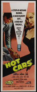 "Movie Posters:Crime, Hot Cars (United Artists, 1956). Insert (14"" X 36""). Nick Dunn(John Bromfield) doesn't want to be mixed up in a stolen car ..."