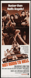 "Movie Posters:Cult Classic, Hot Rods to Hell (MGM, 1967). Insert (14"" X 36""). Dana Andrewsstars as a small-town hotel owner terrorized by local kids an..."