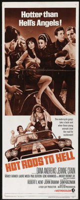 """Hot Rods to Hell (MGM, 1967). Insert (14"""" X 36""""). Dana Andrews stars as a small-town hotel owner terrorized by..."""